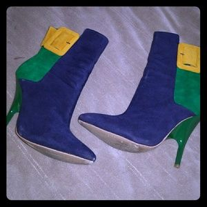 Shoes - COLOR BLOCK BOOTIES WORE 2X